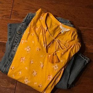 Lucky Brand sleeveless top, size L